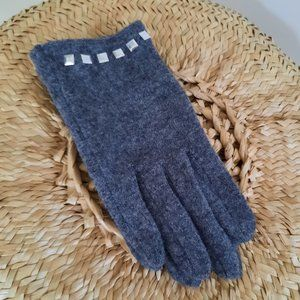 Echo Touch Embellished Wool Blend Gloves Size M
